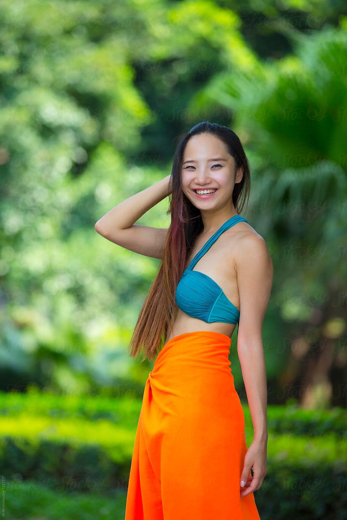 bikini Chinese girl in