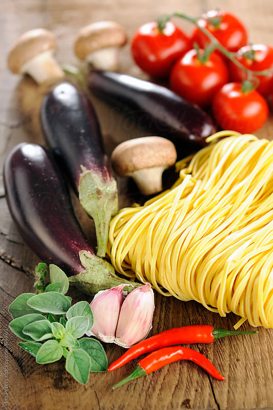 Pasta ingredients by Ina Peters for Stocksy United