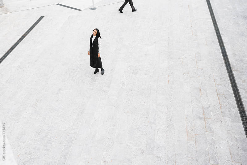 Stylish fashion woman in abstract urban area by WAVE for Stocksy United