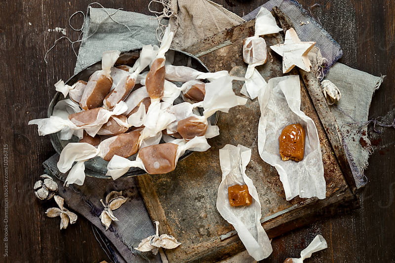 Salted caramel toffees by Susan Brooks-Dammann for Stocksy United