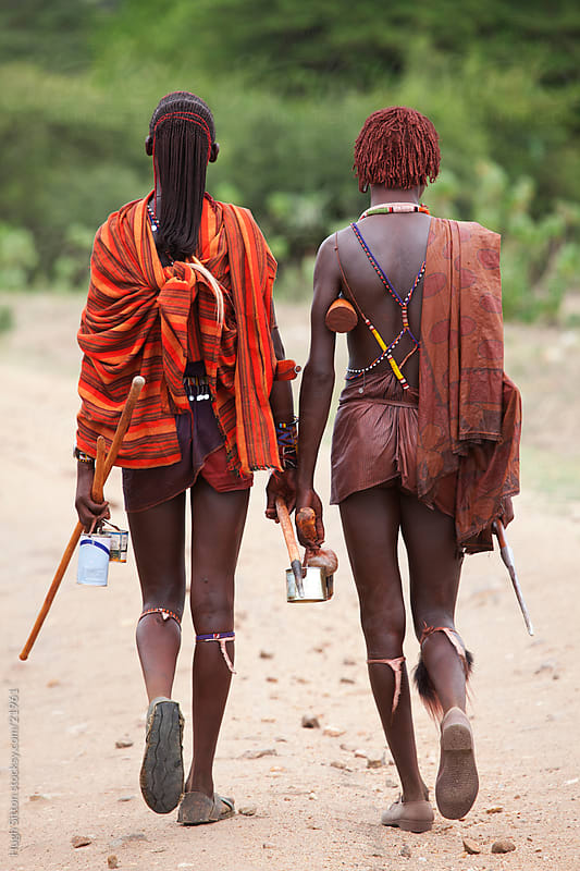 Young Maasai boys. Maasai Mara. Kenya by Hugh Sitton for Stocksy United