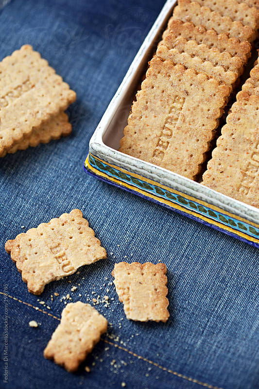 Oat and corn flour petit beurre by Federica Di Marcello for Stocksy United