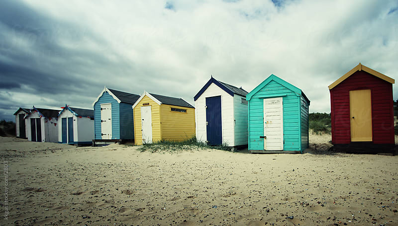 Beach huts by kkgas for Stocksy United