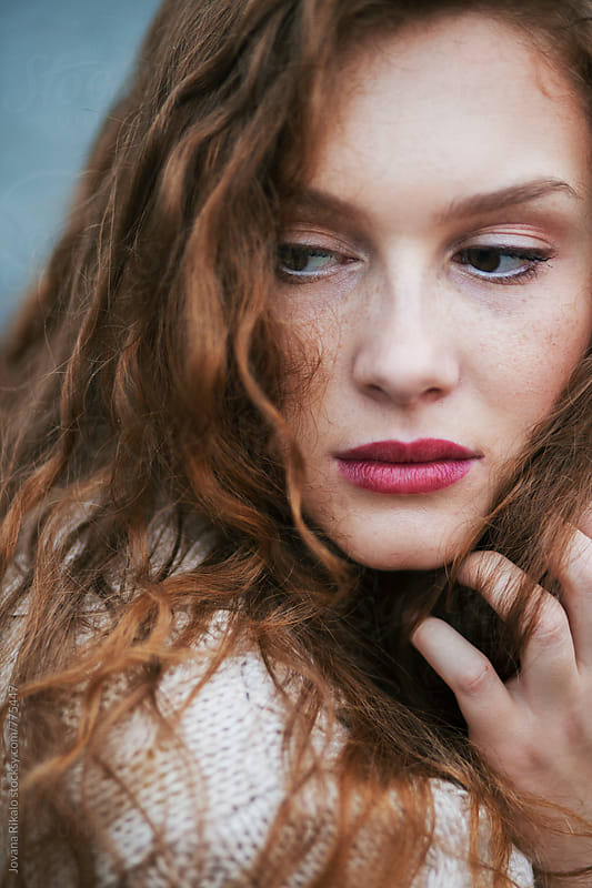 Girl with freckles by Jovana Rikalo for Stocksy United