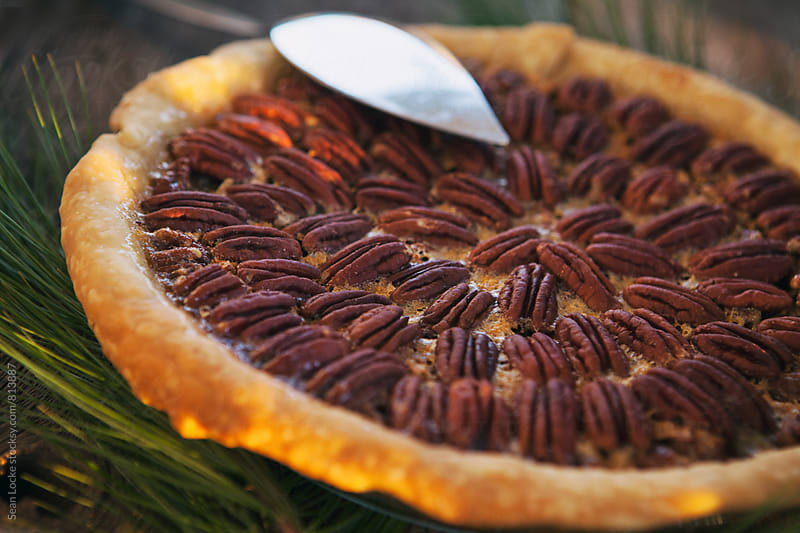 Christmas: Traditional Holiday Pecan Pie by Sean Locke for Stocksy United