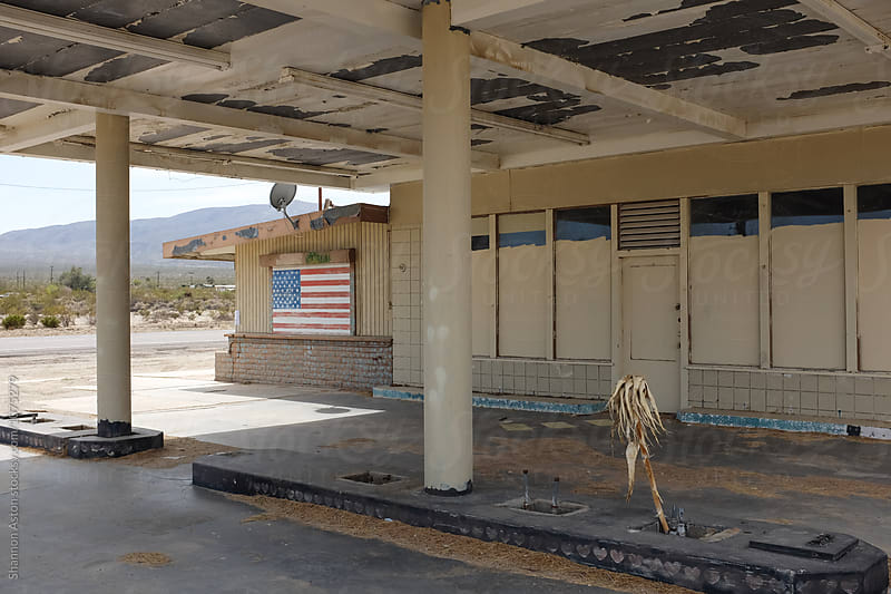 Old and abandoned gas station, CA by Shannon Aston for Stocksy United