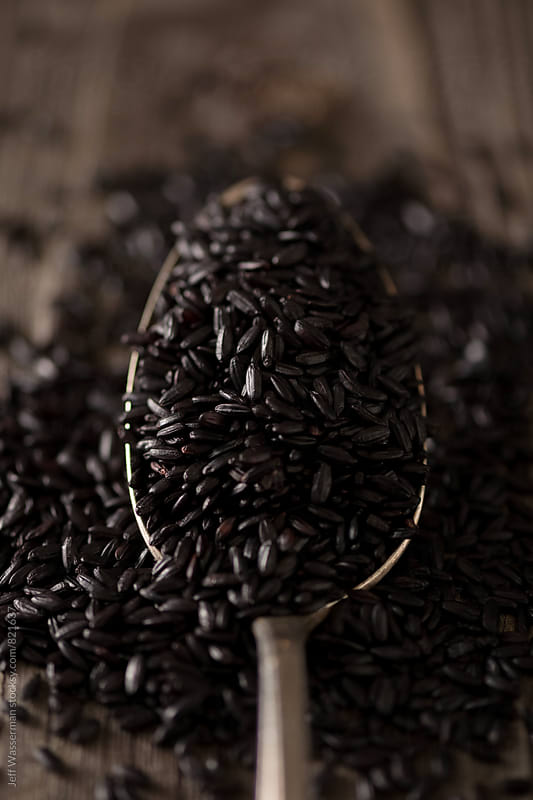 Raw Heirloom Black  Rice by Jeff Wasserman for Stocksy United
