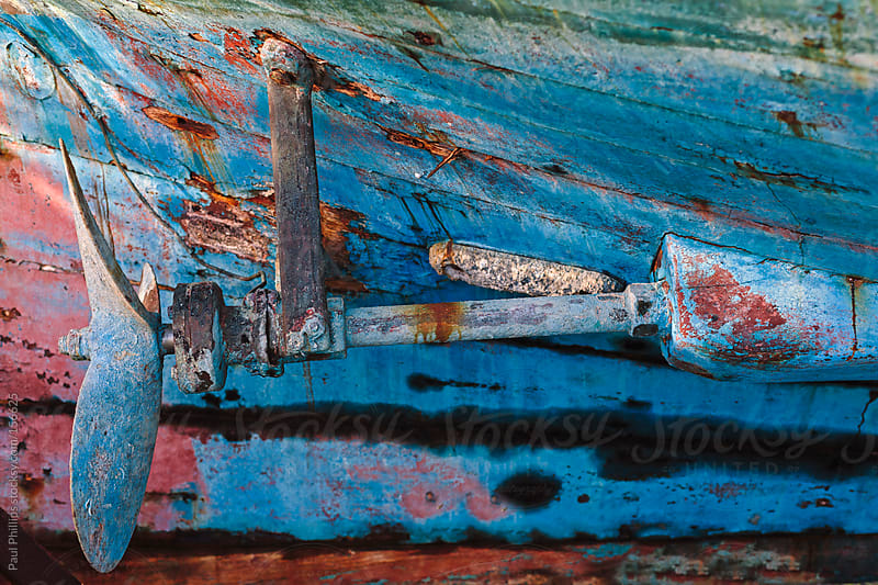 Propeller of an old fishing boat in a decayed condition by Paul Phillips for Stocksy United