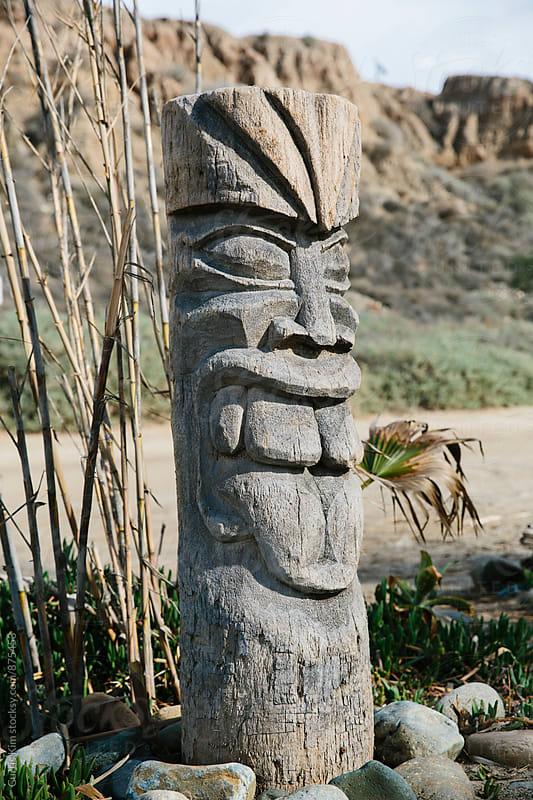 Tiki Totem Pole by Curtis Kim for Stocksy United