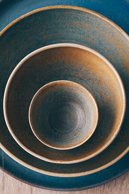 Handmade ceramic bowls by Alberto Bogo for Stocksy United
