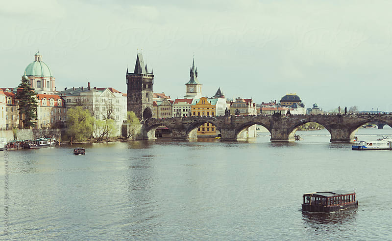 View of Prague by Robert Kohlhuber for Stocksy United