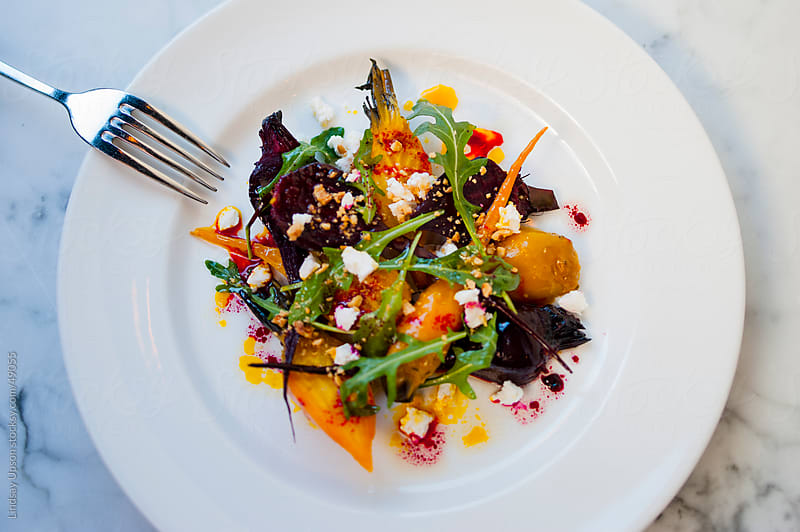 Healthy Beet Salad by Lindsay Upson for Stocksy United