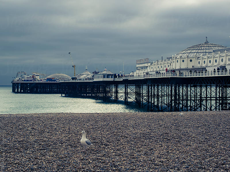 Brighton Pier Seen from the Beach by DV8OR for Stocksy United