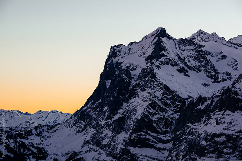Wetterhorn at sunrise by Peter Wey for Stocksy United