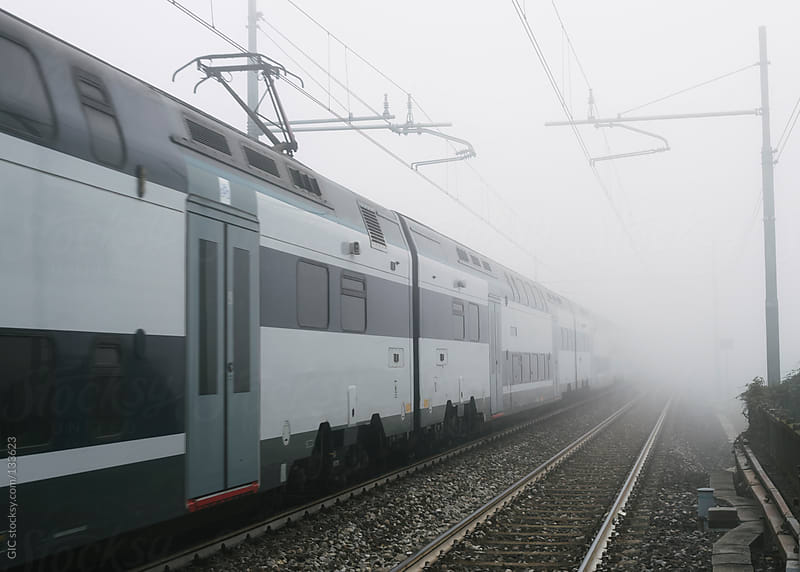 Train in the fog by GIC for Stocksy United