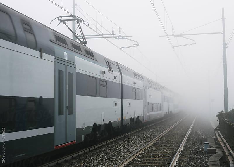 Train in the fog by GIC for Stocksy United
