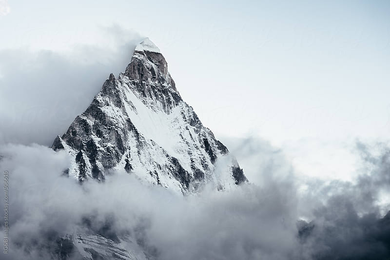 Shivling peak in the morning  by RG&B Images for Stocksy United