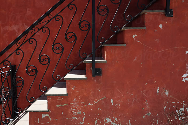 Red Stairs in Italy by Eric J. Leffler for Stocksy United