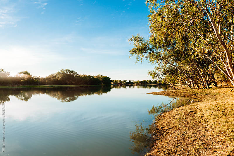 billabong in the desert, northern territory, australia by Gillian Vann for Stocksy United