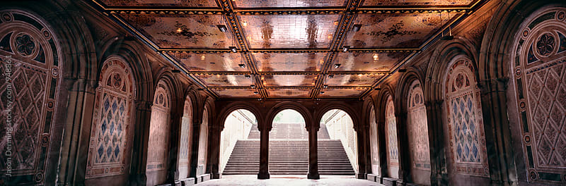 The pedestrian underpass at Bethesda Terrace, Central Park, New York City. by Jason Denning for Stocksy United