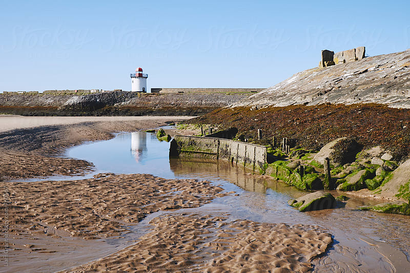 Burry Port lighthouse. Wales, UK. by Liam Grant for Stocksy United