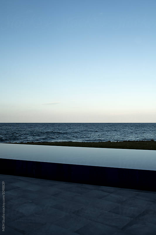minimalistic pool view by MEM Studio for Stocksy United