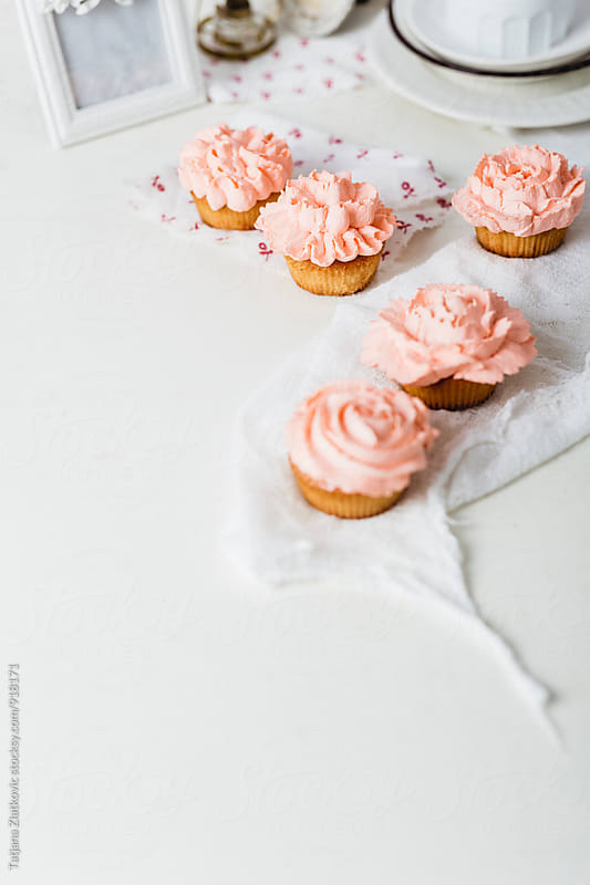 Homemade cupcakes by Tatjana Ristanic for Stocksy United