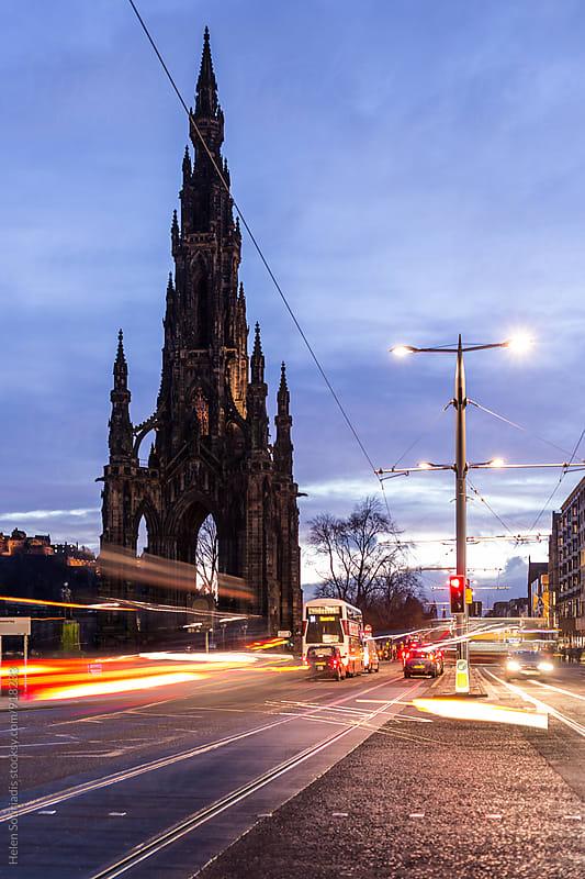 Evening Traffic in Edinburgh by Helen Sotiriadis for Stocksy United