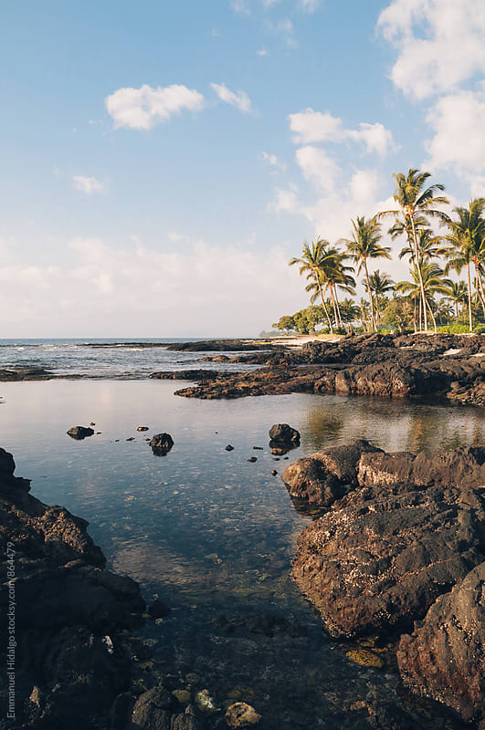 Hawaiian coastal features on the Big Island by Emmanuel Hidalgo for Stocksy United