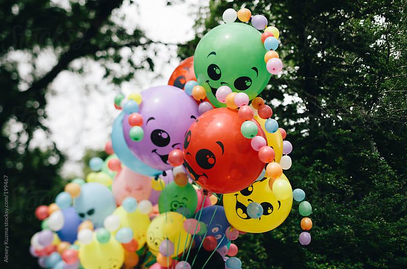 happy balloons by Alexey Kuzma for Stocksy United