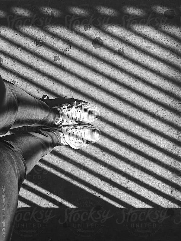 Black & white stripes by Jen Grantham for Stocksy United