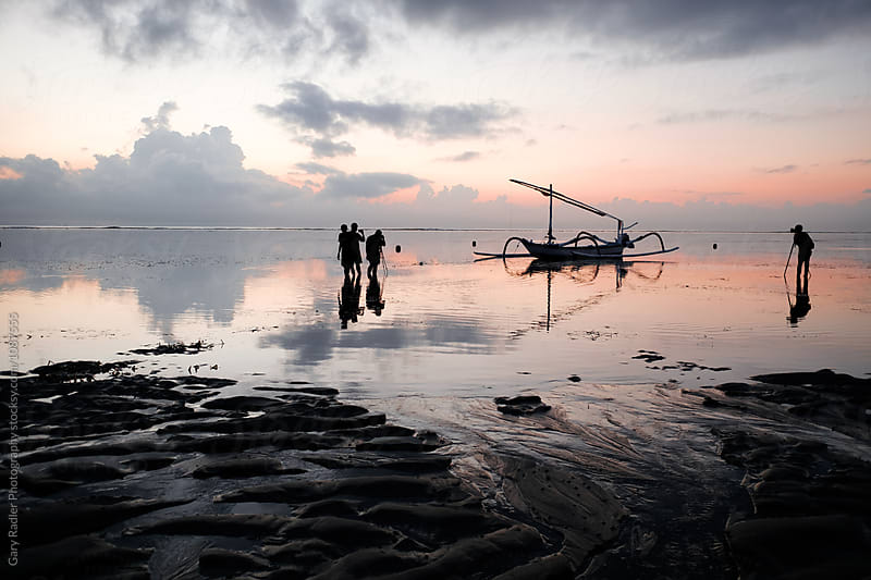 Group of Photographers in Sanur, Bali by Gary Radler Photography for Stocksy United