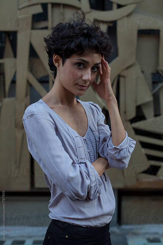 Portrait of a beautiful greek actress. by Luca Di Lotti for Stocksy United