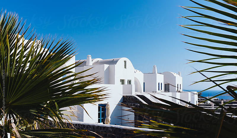 Santorini Buildings, Greece by Gary Radler Photography for Stocksy United