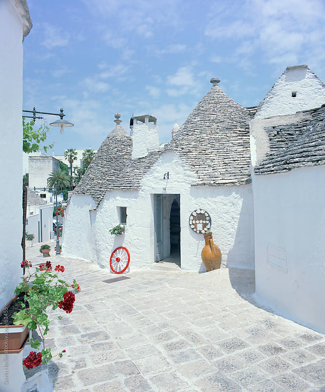 Old trulli houses with stone domed roof, Alberobello, UNESCO World Heritage Site, Puglia, Italy, Eur by Gavin Hellier for Stocksy United