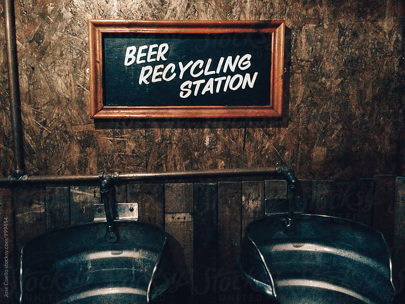 Beer recycling station by Jose Coello for Stocksy United