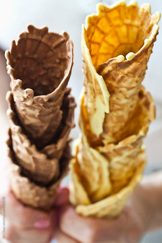 Homemade Waffle Cones by Jill Chen for Stocksy United