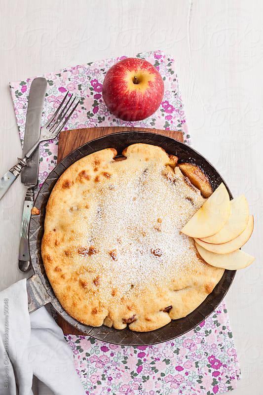 German upside down apple pancake by Elisabeth Coelfen for Stocksy United