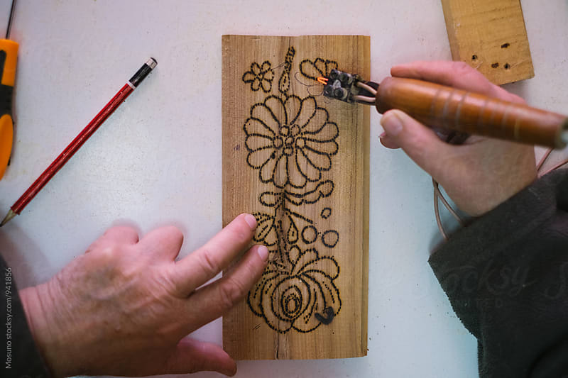 Art of Carving Wood by Mosuno for Stocksy United