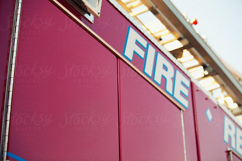 Firehouse: Focus on Blank Fire Truck Cabinet Door by Sean Locke for Stocksy United