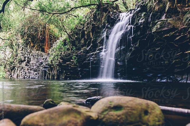 Twin Falls Maui by Jen Grantham for Stocksy United