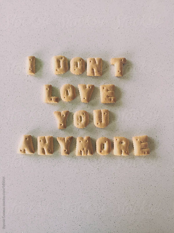 Cookie Note - I Don't Love You Anymore by Ronnie Comeau for Stocksy United