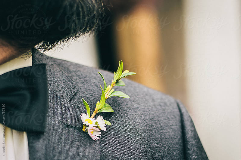 Daisy Flowers in his Buttonhole by Claudia Lommel for Stocksy United