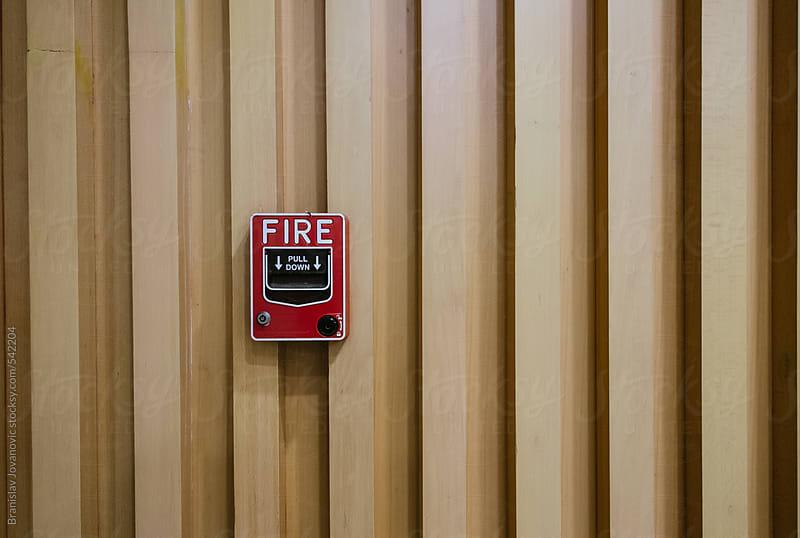 Fire alarm by Brkati Krokodil for Stocksy United