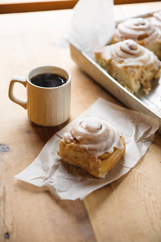 Coffee and Cinnamon Buns by Mark Fleming for Stocksy United