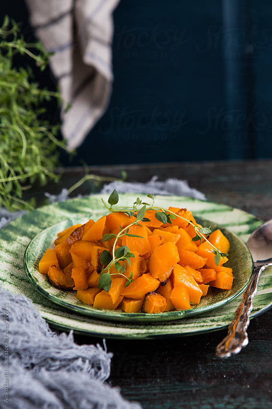 Roasted butternut squash by Aniko Lueff Takacs for Stocksy United