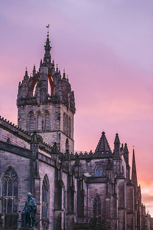 St. Giles' Cathedral, Edinburgh, at Sunset by Helen Sotiriadis for Stocksy United