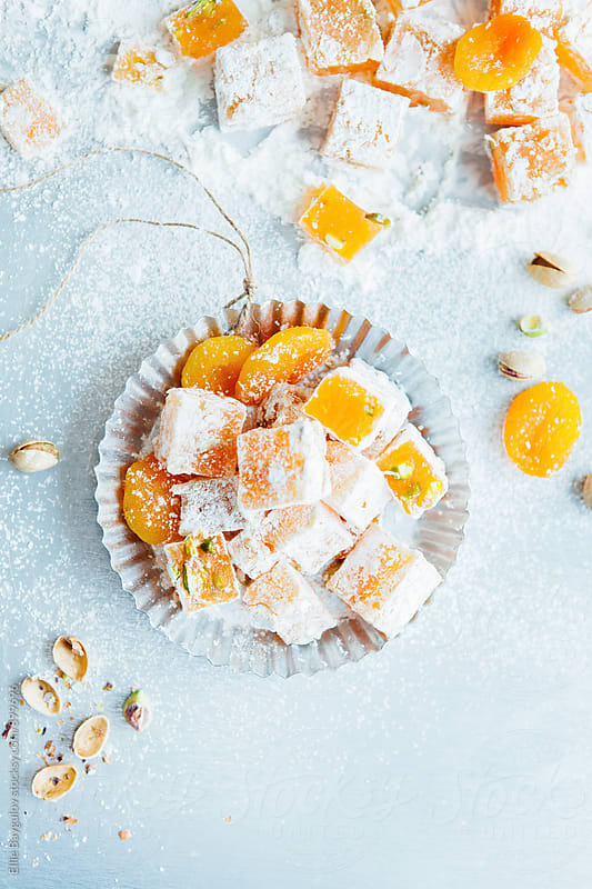 Apricot turkish delight by Ellie Baygulov for Stocksy United