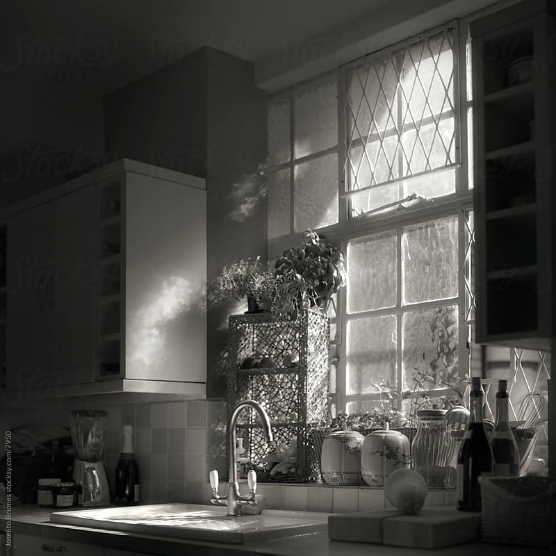 Kitchen Sink by a Window by Joselito Briones for Stocksy United