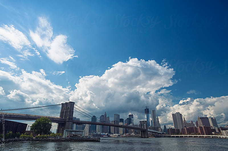 Brooklyn Bridge and Manhattan Skyline by GIC for Stocksy United